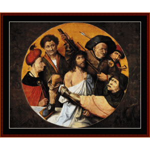 christ crowned with thorns ii- bosch cross stitch pattern by cross stitch collectibles
