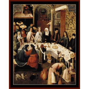 Marriage Feast at Cana - Bosch cross stitch pattern by Cross Stitch Collectibles | Crafting | Cross-Stitch | Wall Hangings