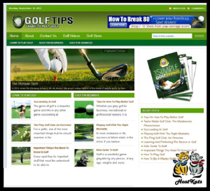 wordpress / golf niche blog -  includes web hosting on our namecheap server