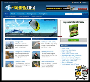wordpress / fishing ready made blog -  includes web hosting on our namecheap server