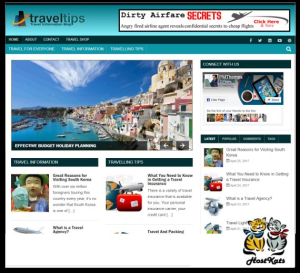 WordPress / Travel Niche Blog - Includes Web Hosting on our Namecheap Server | Software | Design Templates