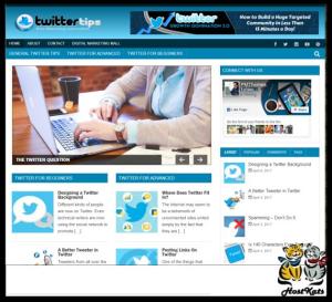 Twitter Niche Site | Software | Design Templates