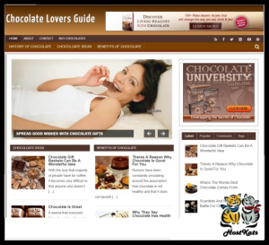 WordPress / Chocolate Blog - Includes Web Hosting on our Namecheap Server | Software | Design Templates