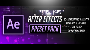 after effects mini transition & effects pack by pro edits