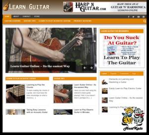 WordPress / Guitar Niche PLR Blog - Includes Web Hosting on our Namecheap.com Server | Software | Design Templates
