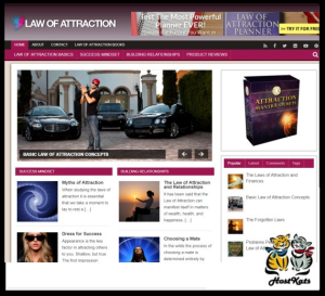 wordpress / law of attraction plr blog - includes web hosting on our namecheap.com server