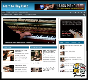 wordpress / learn piano plr blog - includes web hosting on our namecheap server