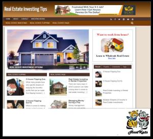 wordpress / real estate investing plr - includes web hosting on our namecheap server