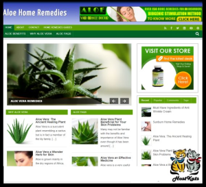 WordPress / Aloe Remedies PLR Blog - Includes Web Hosting on our Namecheap Server | Software | Design Templates
