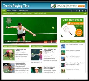 WordPress / Tennis Niche PLR Blog - Includes Web Hosting on our Namecheap Server | Software | Design Templates
