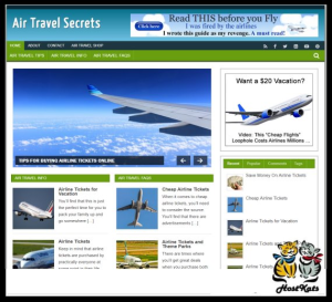 WordPress / Air Travel PLR Blog - Includes Web Hosting on our Namecheap Server | Software | Design Templates