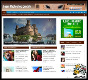WordPress / Learn Photoshop PLR Blog - Includes Web Hosting on our Namecheap Server | Software | Design Templates