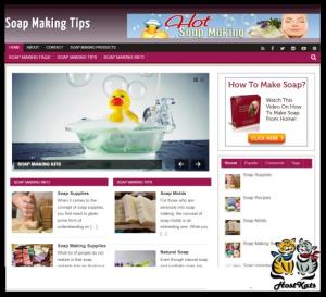wordpress / soap making tips blog - includes web hosting on our namecheap server