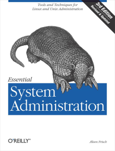 essential system administration, 3rd edi - aeleen frisch