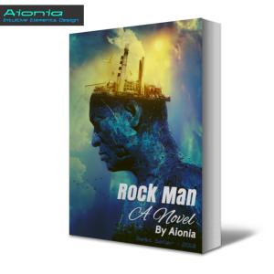 rock man (amazon kindle book & e-book cover design) photomanipulation by aionia
