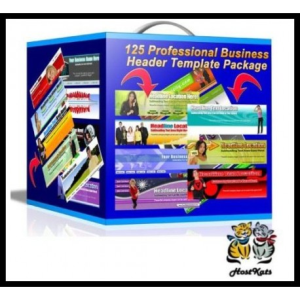 125 Professional Business Header Template Package | Software | Design Templates