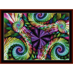 fractal 655 cross stitch pattern by cross stitch collectibles