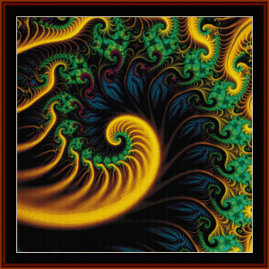 Fractal 658 cross stitch pattern by Cross Stitch Collectibles | Crafting | Cross-Stitch | Wall Hangings