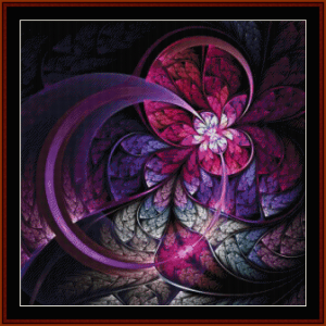 fractal 659 cross stitch pattern by cross stitch collectibles