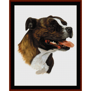 Bull Terrier II - Robt. J. May cross stitch pattern by Cross Stitch Collectibles | Crafting | Cross-Stitch | Wall Hangings