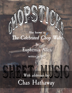 Chopsticks Sheet Music | eBooks | Sheet Music