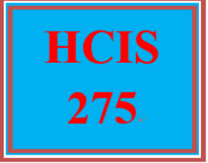 hcis 275 week 9 ehr specialist employment opportunities