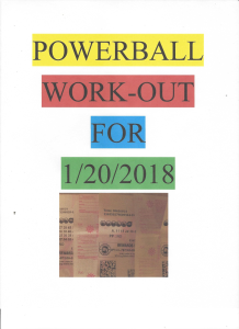 powerball work-out for 1/20/2018