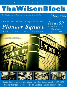 ThaWilsonBlock Magazine Issue59 (January 2018 / Berry Edition) | eBooks | Arts and Crafts
