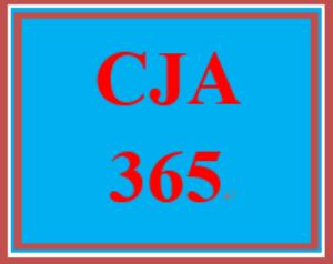 CJA 365 Entire Course | eBooks | Education