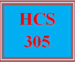 hcs 305 week 5 personal plan assignment