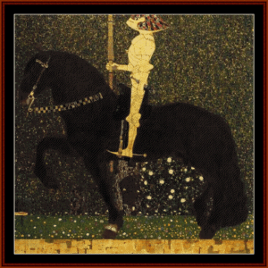 Golden Rider, 1903 - Klimt cross stitch pattern by Cross Stitch Collectibles | Crafting | Cross-Stitch | Wall Hangings