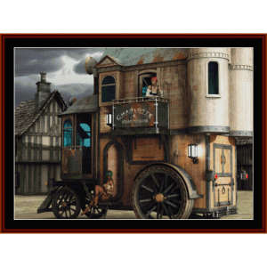 Steampunk Mobile Bordello - Fantasy cross stitch pattern by Cross Stitch Collectibles | Crafting | Cross-Stitch | Other