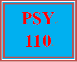 PSY 110 Entire Course | eBooks | Education