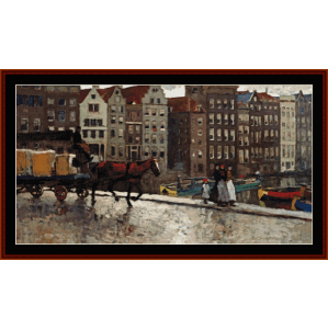 damrak wagon - breitner cross stitch pattern by cross stitch collectibles