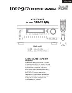 integra dtr 70.1 original service manual