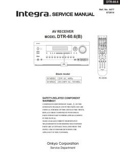 integra dtr 60.6 original service manual