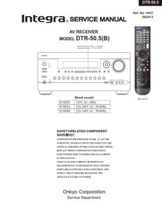 integra dtr 50.5 original service manual