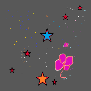 stars and flower .