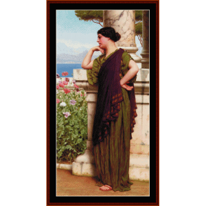 tender thoughts, 1917 - godward cross stitch pattern by cross stitch collectibles