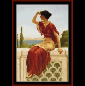 the signal, 1899 - godward cross stitch pattern by cross stitch collectibles
