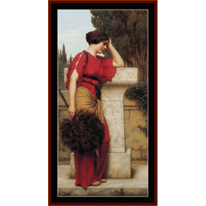 The Thoughtful One, 1913 - Godward cross stitch pattern by Cross Stitch Collectibles | Crafting | Cross-Stitch | Wall Hangings