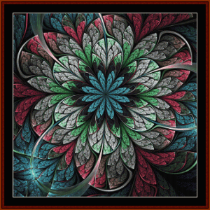 fractal 662 cross stitch pattern by cross stitch collectibles