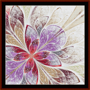 fractal 663 cross stitch pattern by cross stitch collectibles