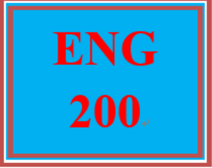 ENG 200 Week 2 Topic Selection | eBooks | Education