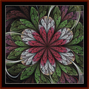 fractal 664 cross stitch pattern by cross stitch collectibles