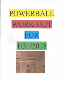powerball work-out for 1/31/18