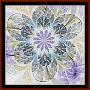 fractal 661 cross stitch pattern by cross stitch collectibles