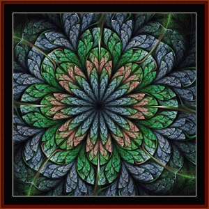 fractal 660 cross stitch pattern by cross stitch collectibles
