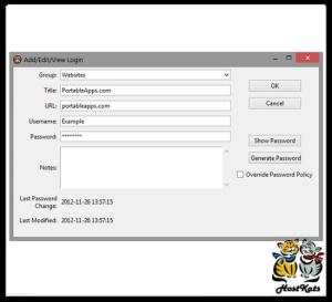 password gorilla portable - password manager