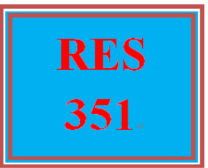 RES 351 Week 2 Learning Team Charter | eBooks | Education